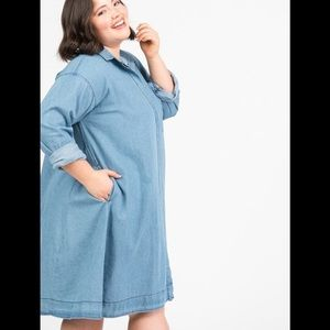 Denim Shirt Dress Vintage Wash